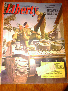 LIBERTY  WWII WARTIME MAGAZINES &VINTAGE FARM BOOKS AND MAGAZINE