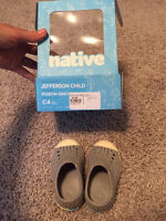 Native Shoes Baby/Toddler Size 4 Pigeon Grey