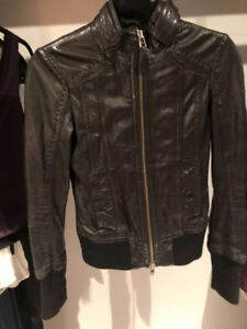 Mackage leather jacket aritzia xs