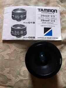 Tamron 28mm f2.5 Wide Angle Lens w/ Adaptall 2 mount