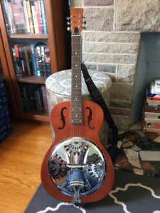 Ephiphone Dobro Acoustic Guitar w/ Hard Shell Case