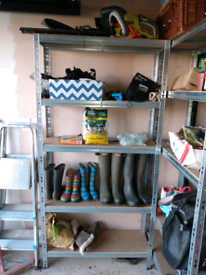 Metal 5 tier racking for garage or workshop