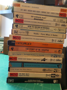 "15  71/2"" Pre-Recorded Audio Tapes in original boxes"