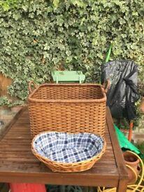 2 whicker / rattan basket