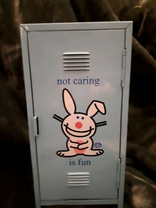 Happy bunny locker or cd holder