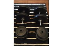 Dumbbells with plates (20kg + 20kg) £35 ONO