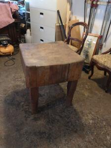 Genuine Old Butcher block table