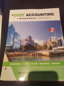 Cost Accounting - A managerial emphasis 7th Edition