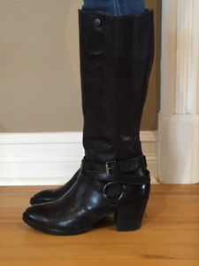 Bussola Leather Dress Boots