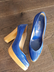 Michael Kors Patent Leather Royal Blue Pumps 6.5