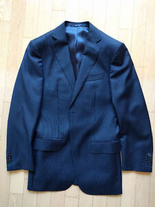 Short/Skinny? Navy Blue Pinstripe Suit Supply Suit