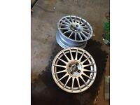 "2 x 16"" Oz Racing wheels 4x100 PCD VW SEAT SKODA HONDA"