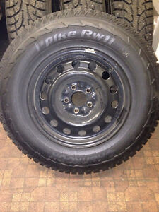 235/70R16 Hankook Studded Winter Tires on Rims Campbell River Comox Valley Area image 2