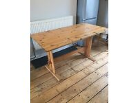 Vintage pine dining table