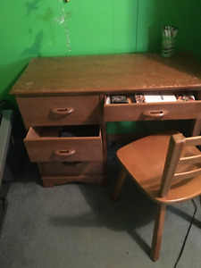 Wooden Desk and chair for sale!!