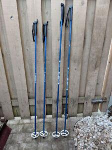 4 Ski Poles (2 Humbercan & 2 Benner)