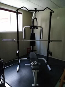 EUC complete home gym with all the trimmings
