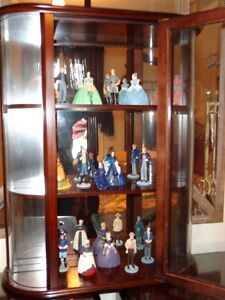 Franklin Mint Gone with the Wind Figurines with Display Cabinet West Island Greater Montréal image 1