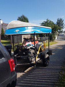 Quad ATV trailer with LED lights