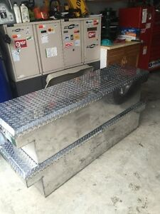 2 Stainless tool boxes