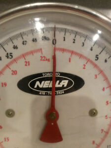 Vintage Industrial Grey Metal Kitchen Baking Platform Scale Dial