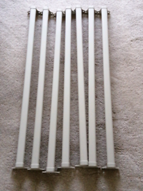 7 x IKEA komplement double wardrobe rails in cream