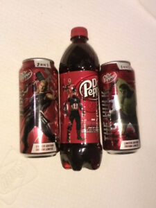 Avengers Hulk and Thor Dr. Pepper soda lot