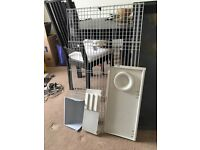 Large rabbit cage, carry cage and starter pack FOR QUICK SALE!!