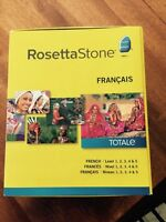 Rosetta Stone Francais French DVD Set and Headphones