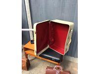 Vintage pixie 1950's 60's faux crocodile skin suitcase wedding prop under bed storage kitsch