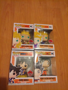 Dragonball pop funkos mint exclusives