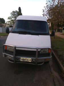 Ford Transit with engineered and legal Holden V6 motor and auto