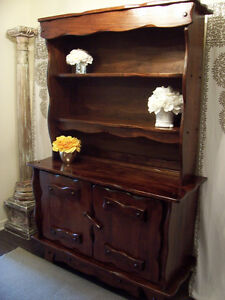 Rustic Chic Large Red Oak Cabinet/Hutch DELIVERY AVAILABLE