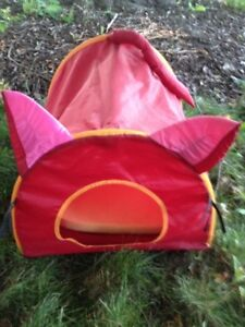 Red Cat Tent Bed Kitten Home Sm  Out Camp Cute Kitty House Dog