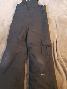 Boys Size 6/7 Black Overall Snow Pant