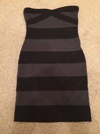 Ladies size 10 Boohoo stripy dress