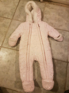 Pink Snow Suit 6 to 9months