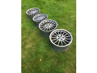 BMW Genuine Style 32 staggered alloy wheels x4