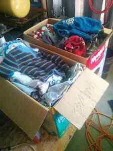 Two boxes of little boy clothes
