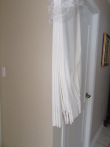"""Drapes, Custom Made, two panels 58"""" w x 78""""L. Dry Cleaned ready"""