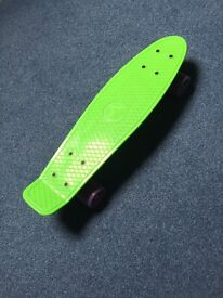 Retro 70s South Coast Skates skateboard green purple