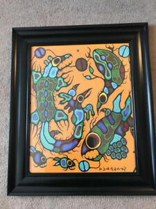 Norval Morrisseau limited edition print with COA