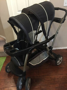 graco double sit n stand stroller