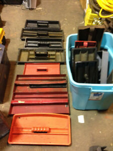 Tool Box Tray Inserts $1 each, over 20 trays