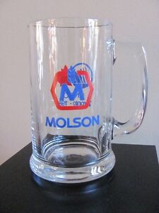 2x Bocks de biere Molson 1988 Beer Steins