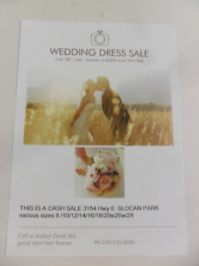 NEED INVENTORY FOR YOUR POP UP STORE WEDDING DRESSES