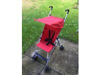 Hauck red collapsing pushchair