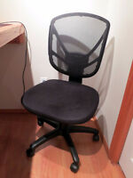 Black Gas Lift Fabric Chair (Urgent Sale - Must go by Sept 2)
