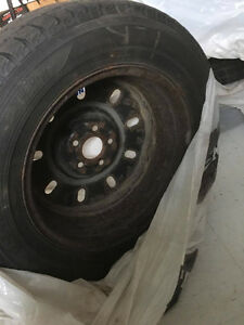ALMOST NEW WINTER TIRES ON RIMS **450 OBO**