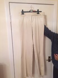Zara creme trousers. New with tag size 12. Long length.